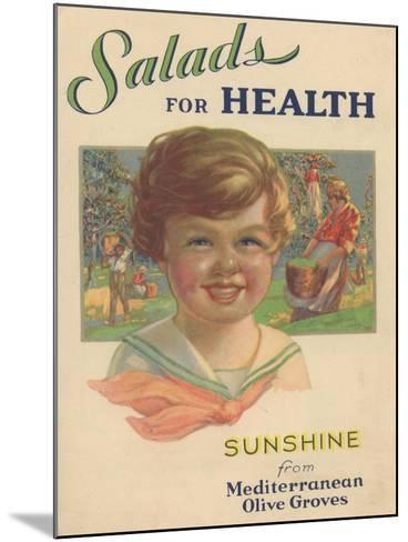 Salads for Health, 1929--Mounted Giclee Print