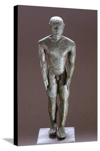 Kouros in Bronze, from Corinaldo--Stretched Canvas Print