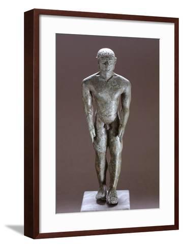 Kouros in Bronze, from Corinaldo--Framed Art Print