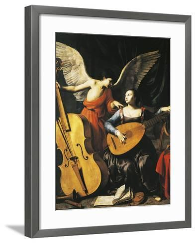 Saint Cecilia and Angel-Carlo Saraceni-Framed Art Print