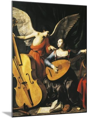 Saint Cecilia and Angel-Carlo Saraceni-Mounted Giclee Print