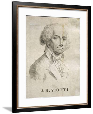 Portrait of Giovanni Battista Viotti--Framed Art Print