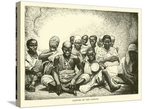Natives of the Gaboon--Stretched Canvas Print