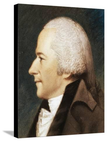 Portrait of Alexander Hamilton--Stretched Canvas Print