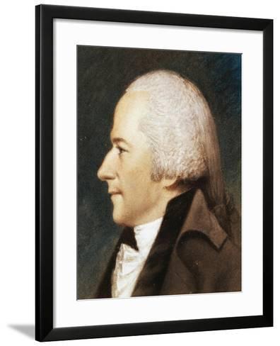 Portrait of Alexander Hamilton--Framed Art Print