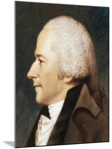 Portrait of Alexander Hamilton--Mounted Giclee Print