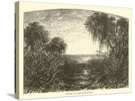 Swamp on the Mississippi--Stretched Canvas Print