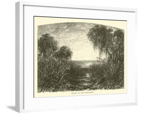 Swamp on the Mississippi--Framed Art Print