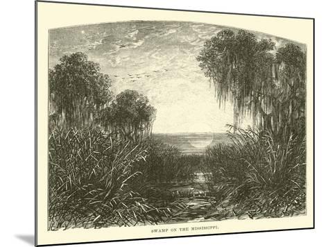 Swamp on the Mississippi--Mounted Giclee Print