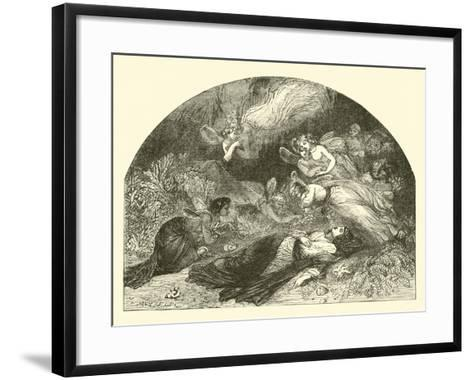 The Lament of the Peri for Hinda--Framed Art Print