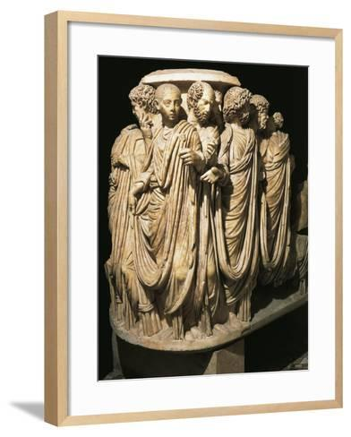 Relief from Sarcophagus from Acilia--Framed Art Print