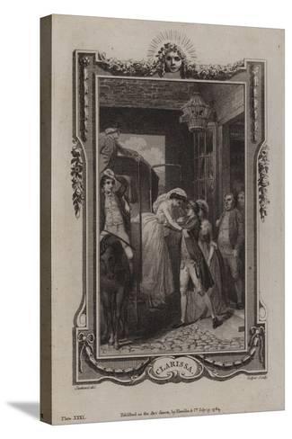 Scene from Clarissa-Samuel Richardson-Stretched Canvas Print