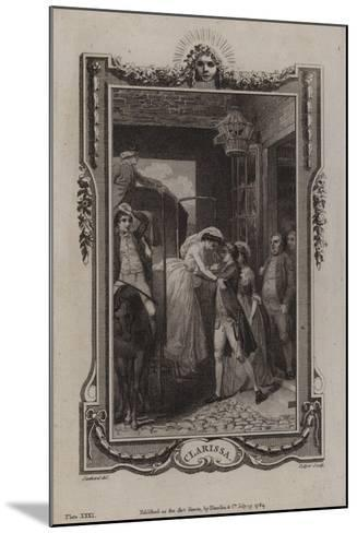 Scene from Clarissa-Samuel Richardson-Mounted Giclee Print