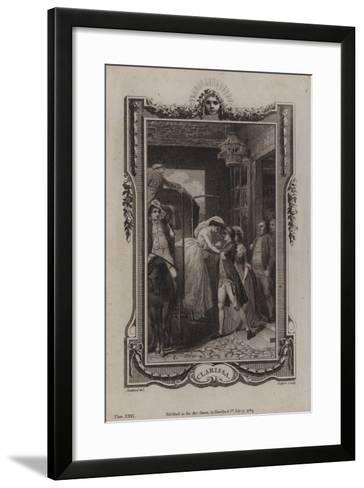 Scene from Clarissa-Samuel Richardson-Framed Art Print