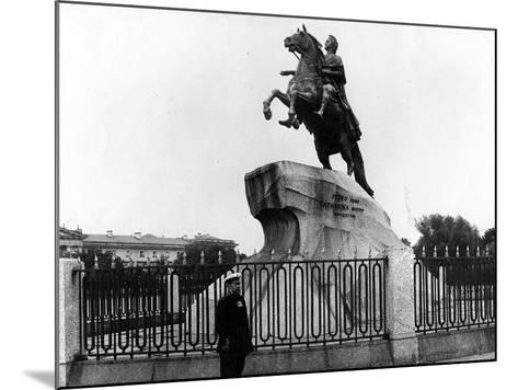 The Bronze Horseman, C.1900--Mounted Photographic Print