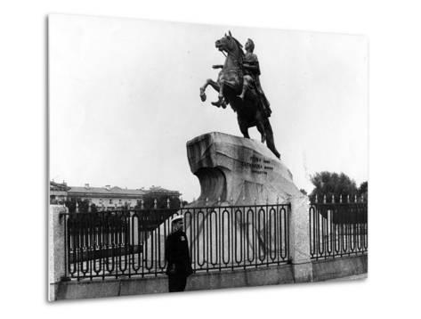 The Bronze Horseman, C.1900--Metal Print