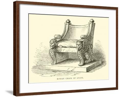 Roman Chair of State--Framed Art Print