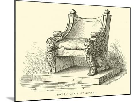 Roman Chair of State--Mounted Giclee Print