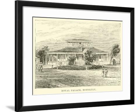 Royal Palace, Honolulu--Framed Art Print