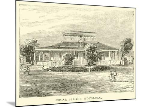 Royal Palace, Honolulu--Mounted Giclee Print