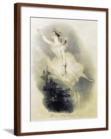 Dancer Marie Taglioni--Framed Art Print