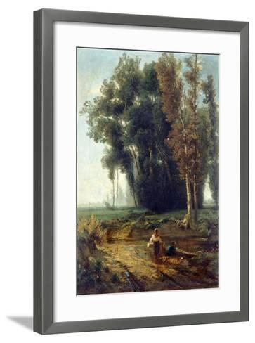 Woods with Water and Scrubs-Giovanni Corvini-Framed Art Print
