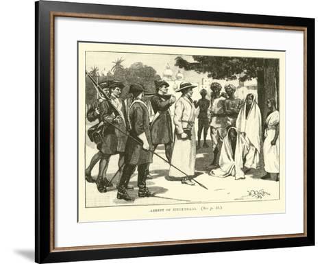 Arrest of Ziegenbalg--Framed Art Print