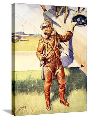 A Pilot Ready for a High Altitude Flight--Stretched Canvas Print