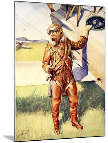 A Pilot Ready for a High Altitude Flight--Mounted Giclee Print