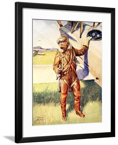 A Pilot Ready for a High Altitude Flight--Framed Art Print
