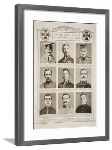 Victoria Cross Heroes of Mons and Le Cateau--Framed Art Print
