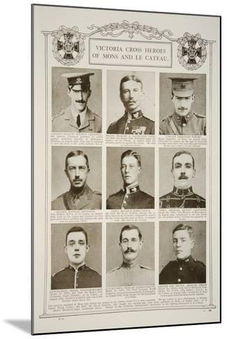 Victoria Cross Heroes of Mons and Le Cateau--Mounted Giclee Print