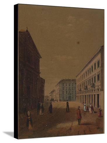Italy, Novara, Piazza Statuto--Stretched Canvas Print