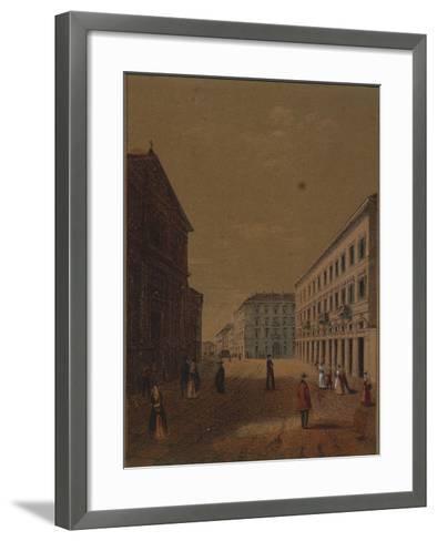 Italy, Novara, Piazza Statuto--Framed Art Print