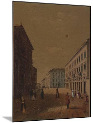 Italy, Novara, Piazza Statuto--Mounted Giclee Print