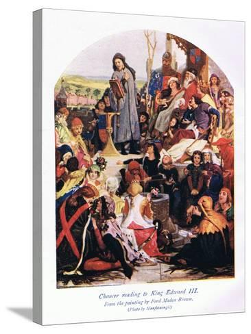 Chaucer Reading to King Edward III-Ford Madox Brown-Stretched Canvas Print