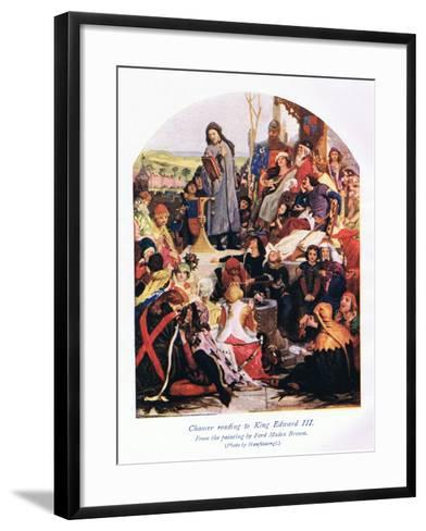 Chaucer Reading to King Edward III-Ford Madox Brown-Framed Art Print