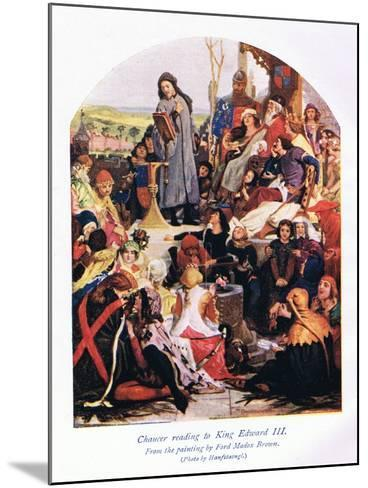 Chaucer Reading to King Edward III-Ford Madox Brown-Mounted Giclee Print