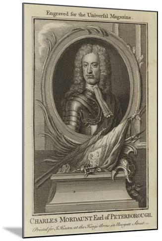 Charles Mordaunt, Earl of Peterborough--Mounted Giclee Print