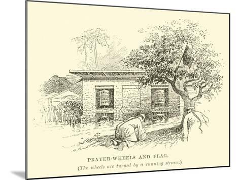 Prayer-Wheels and Flag--Mounted Giclee Print