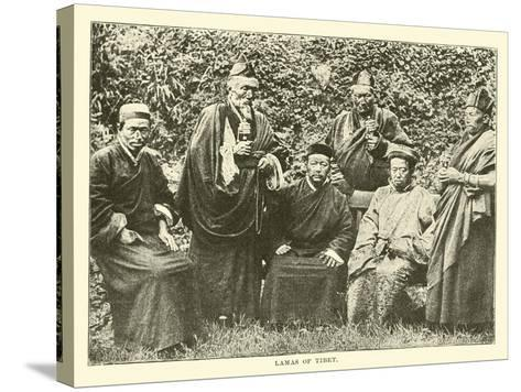 Lamas of Tibet--Stretched Canvas Print