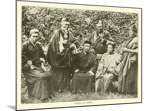 Lamas of Tibet--Mounted Giclee Print