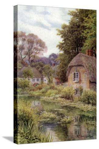 On the Avon, at Lake, Near Salisbury-Alfred Robert Quinton-Stretched Canvas Print