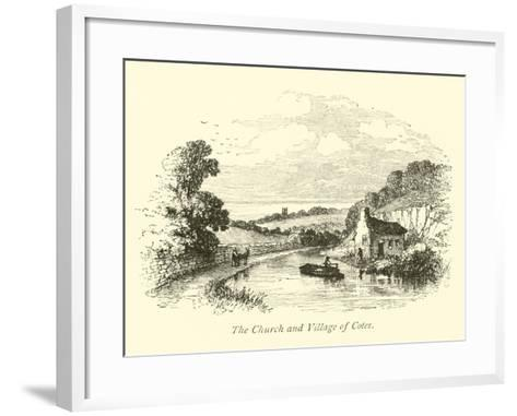 The Church and Village of Cotes--Framed Art Print