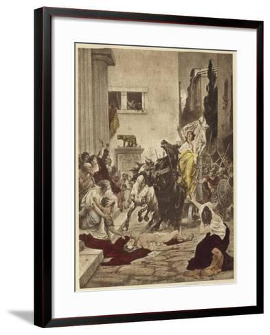 Tullia Driving over Her Father's Corpse--Framed Art Print