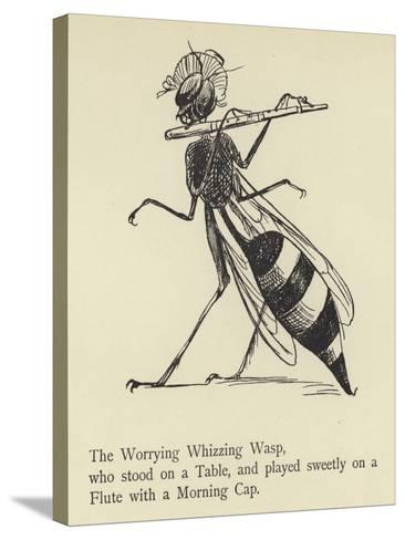 The Worrying Whizzing Wasp-Edward Lear-Stretched Canvas Print