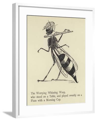 The Worrying Whizzing Wasp-Edward Lear-Framed Art Print