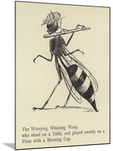 The Worrying Whizzing Wasp-Edward Lear-Mounted Giclee Print