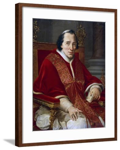 Portrait of Pope Pius VII--Framed Art Print