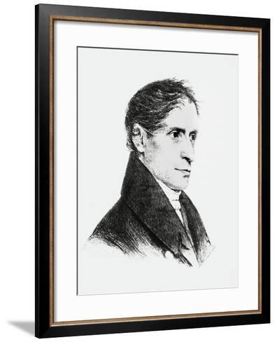 Portrait of Joseph Freiherr Von Eichendorff--Framed Art Print